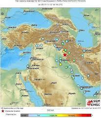 map iran iraq iran iraq border region hit with 7 2 magnitude earthquake 400