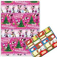 minnie mouse christmas wrapping paper christmas wrapping paper 69cm x 4m disney winter minnie mouse