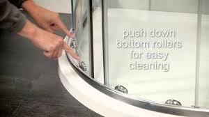 sonas bathrooms city range offset quadrant shower door youtube