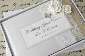 personalised wedding guest book vintage style butterfly luxury personalised wedding guest