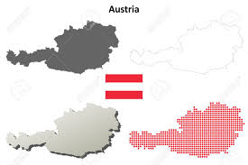 austria map vector austria outline map set royalty free cliparts vectors and stock