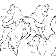 Wolf Pack Coloring Pages Anime Wolf Pack Coloring Pages Az Wolf Wolf Pack Coloring Pages