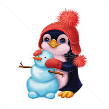 merry christmas l post season s greetings with smiling penguin merry christmas and happy