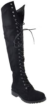 womens boots on amazon amazon com rider 33 womens thigh high lace up combat boots