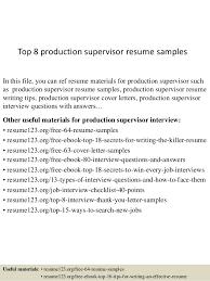 Production Supervisor Job Description For Resume by Sample Educational Resume 21 Educational Resume Examples Summer