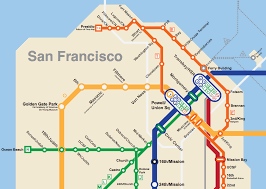 san francisco map bay area 2050 the bart metro map future travel