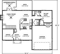 mother in law suite house plans home plan 126 1048 floor