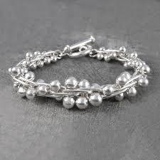 silver solid bracelet images Graduated solid peppercorn sterling silver bracelet by otis jaxon jpg