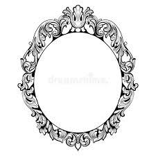 vintage imperial baroque mirror frame vector luxury rich