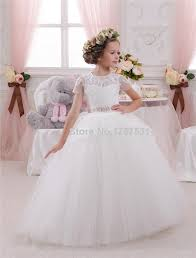 white ivory first communion dresses for girls 10 12 puffy tulle