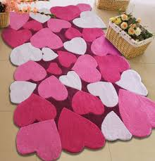 Pink Bedroom Rug Decoration Winsome Pink Bedroom Area Rug With Hearts Patterns Rich
