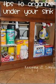 simple tips to help organize under your kitchen sink organization