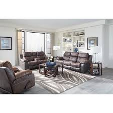 reclining sofa with drop down table by catnapper wolf and