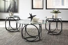 ashley furniture t116 13 quassey 3 pc cocktail table set black