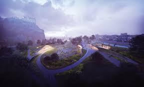 why u0026 o street concept for ross pavilion and princes st gardens
