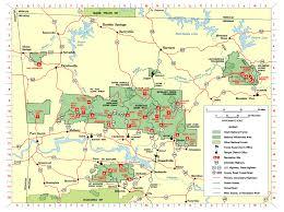 ozarks map ozark st francis national forests maps publications