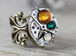unique mothers rings mothers ring antique brass birthstone ring barrel