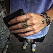 men rock rings images Geometric triangle titanium steel punk rock rings for men women jpg