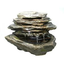 table top water fall tabletop waterfall fountains zingz thingz fiberglass lotus tabletop