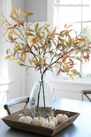 Pottery Barn Fall Decor - fall into home tour fall arrangements fall leaves and wood tray