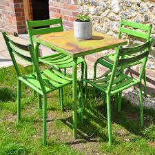 Lime Green Bistro Table And Chairs Lime Green Vintage Cafe Table Chairs Garden Furniture