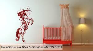 fabulous unicorn nursery kids room wall decor wall stickers