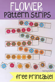 pattern practice games flower pattern strips flower patterns free printable and flowers