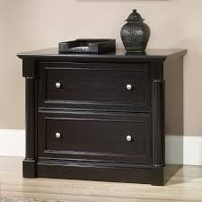 Black Wood Lateral File Cabinet by Sauder Edge Water Lateral File Cabinet Hayneedle