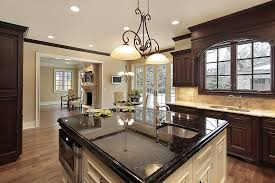 white kitchen island with black granite top kitchen design black granite kitchen with island modern designs