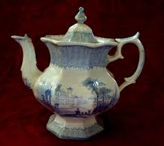 shaped teapot antique staffordshire octagon shaped teapot sons ironstone