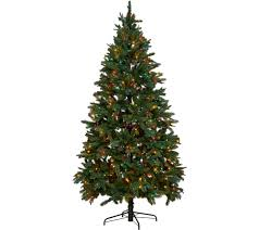 cristmas tree hallmark 7 5 heritage mixed tip tree with set technology