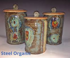 handmade 5 piece ceramic kitchen canister set s m l xl