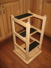 Free Wood Step Stool Plans by Talk About Practical A Bar Stool Upside Down With Added Steps