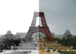 paper time machine landmarks like tower bridge and the eiffel
