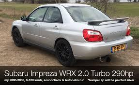 wrx subaru silver subaru impreza wrx 2 0 turbo 290hp exhaust 0 100 km h u0026 autobahn