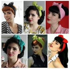 different pin up hair looks take a scarf wrap it around your