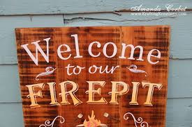 Firepit Signs Krafting Kreations Welcome To Our Firepit