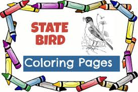 State Bird Coloring Pages Usa For Kids Coloring Pages Usa