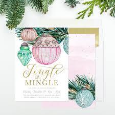 jingle u0026 mingle holiday party invitation vintage watercolor