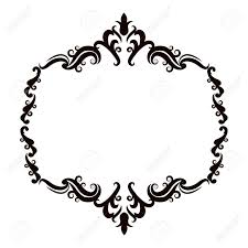 vintage baroque frame scroll floral ornament border retro pattern
