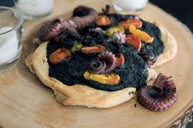halloween recipe squid ink pizza looks as creepy as you u0027d think