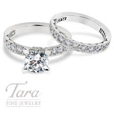Tacori Wedding Rings by Tacori Diamond Engagement Ring 64ct Tdw U0026 Band 63 Tdw In