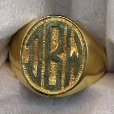 Monogram Rings Gold Hand Engraved Jewelry Monogram Rings Monogram Rings