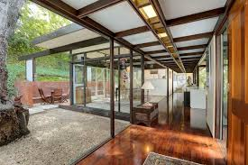 glass walls a midcentury classic with glass walls on the market for 1 475m