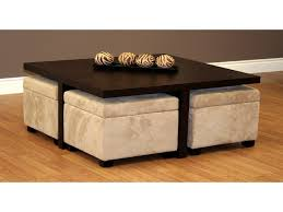 dark brown storage ottoman coffee tables ideas leather storage ottoman table great regarding