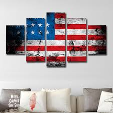 Saipan Flag 2018 Printed Painting American Flag Canvas Print 5pcs Colorful X
