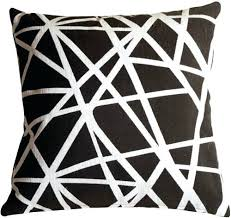 Sophisticated Black Decorative Pillows Rectangular Pillow Black