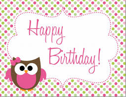 Birthday Invite Cards Free Printable Owl Birthday Party Free Printables