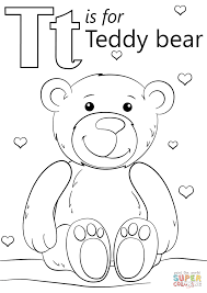 black bear coloring pages letter t is for teddy bear coloring page free printable coloring