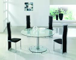 home design 85 cool small round glass dining tables